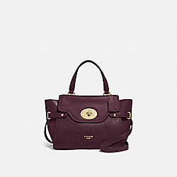 BLAKE FLAP CARRYALL - OXBLOOD 1/LIGHT GOLD - COACH F32106