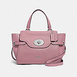 BLAKE FLAP CARRYALL - DUSTY ROSE/SILVER - COACH F32106