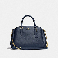 SAGE CARRYALL - METALLIC DENIM/LIGHT GOLD - COACH F32165