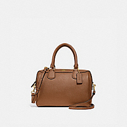 MINI BENNETT SATCHEL - SADDLE 2/LIGHT GOLD - COACH F32202