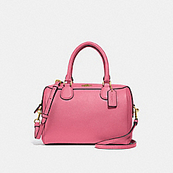 MINI BENNETT SATCHEL - STRAWBERRY/IMITATION GOLD - COACH F32202
