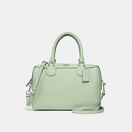 COACH MINI BENNETT SATCHEL - PALE GREEN/SILVER - F32202