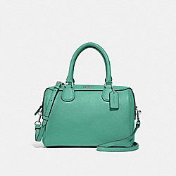 MINI BENNETT SATCHEL - GREEN/SILVER - COACH F32202
