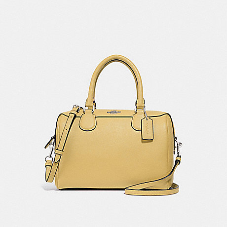 COACH MINI BENNETT SATCHEL - LIGHT YELLOW/SILVER - F32202