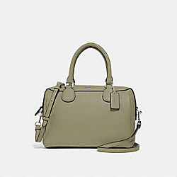 MINI BENNETT SATCHEL - LIGHT CLOVER/SILVER - COACH F32202
