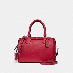 MINI BENNETT SATCHEL - BRIGHT CARDINAL/SILVER - COACH F32202