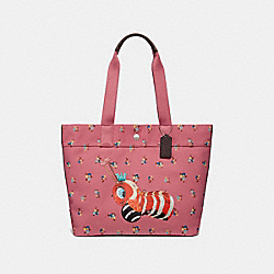 FISHER-PRICE CATERPILLAR TOTE - PEONY MULTI/SILVER - COACH F32208