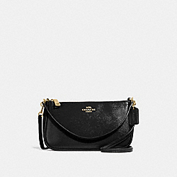 COACH TOP HANDLE POUCH - BLACK/LIGHT GOLD - F32211