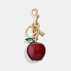APPLE BAG CHARM - RED/GOLD - COACH F32214