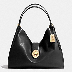 COACH MADISON CARLYLE SHOULDER BAG IN LEATHER - LIGHT GOLD/BLACK - F32221