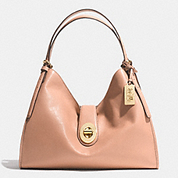 COACH MADISON CARLYLE SHOULDER BAG IN LEATHER - LIGHT GOLD/ROSE PETAL - F32221