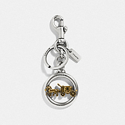 HORSE AND CARRIAGE PENDANT BAG CHARM - SILVER/GOLD - COACH F32227