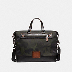 ACADEMY HOLDALL WITH WILD BEAST PRINT - MILITARY/BLACK COPPER FINISH - COACH F32253