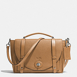 BLEECKER PEBBLE LEATHER BROOKLYN MESSENGER - f32263 - AKD0E