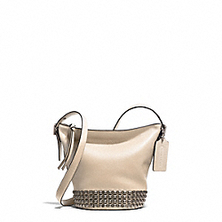 BLEECKER LEATHER MINI STUDDED DUFFLE CROSSBODY - f32267 - AKD1D