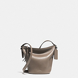 COACH BLEECKER MINI DUFFLE BAG IN GLOVE TANNED LEATHER - ANTIQUE NICKEL/GREY - F32281