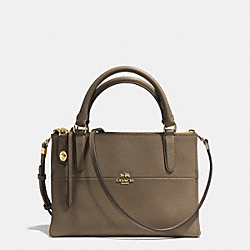 MINI BOROUGH BAG IN SAFFIANO LEATHER - f32284 - GOLD/OLIGHT GOLDVE FATIGUE