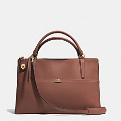 COACH THE BOROUGH BAG IN SAFFIANO LEATHER - LIGHT GOLD/BRICK - F32285