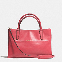 COACH SOFT BOROUGH BAG IN NAPPA LEATHER - GOLD/LOGANBERRY - F32291