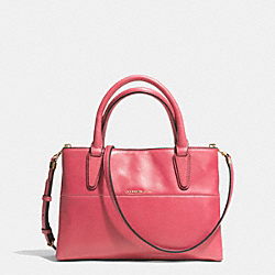 COACH THE NAPPA LEATHER  MINI SOFT BOROUGH BAG - GOLD/LOGANBERRY - F32292