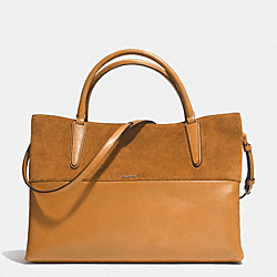 COACH THE LARGE SOFT BOROUGH BAG IN RETRO GLOVE TAN LEATHER AND SUEDE - UEHON - F32295