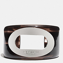 COACH OVAL RESIN CUFF - MULTICOLOR - F32298