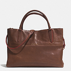 COACH LARGE SOFT BOROUGH BAG IN VACHETTA LEATHER - GOLD/ESPRESSO/LOGANBERRY - F32301