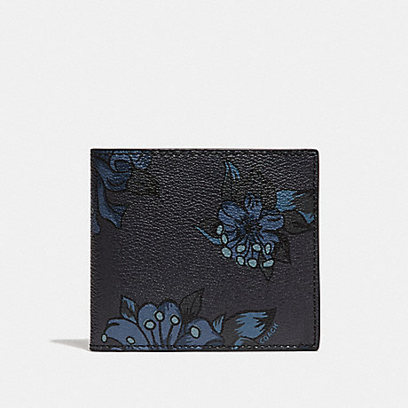 COACH DOUBLE BILLFOLD WALLET WITH HAWAIIAN LILY PRINT - F23 - f32304