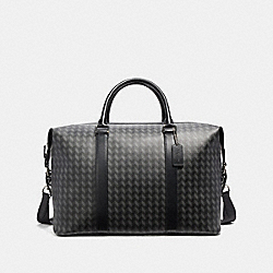 VOYAGER BAG WITH HERRINGBONE PRINT - NINI7 - COACH F32308