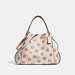 EDIE SHOULDER BAG 28 WITH ROSE PRINT - LI/CHALK - COACH F32313