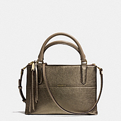 COACH THE METALLIC LEATHER MINI BOROUGH BAG - GOLD/GOLD - F32322