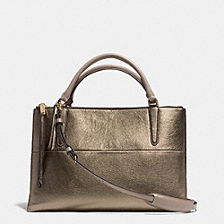 COACH BOROUGH BAG IN METALLIC LEATHER - GOLD/GOLD - F32323