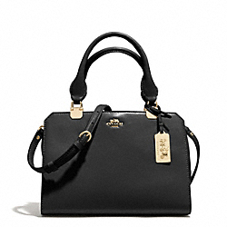 COACH MINI LEXINGTON CARRYALL IN LEATHER - LIGHT GOLD/BLACK - F32327