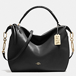 COACH MADISON XL SMYTHE SATCHEL IN LEATHER - LIGHT GOLD/BLACK - F32330