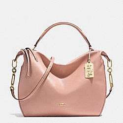 MADISON XL LEATHER SMYTHE SATCHEL - f32330 - LIGHT GOLD/ROSE PETAL