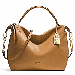 COACH MADISON XL LEATHER SMYTHE SATCHEL - LID0E - F32330