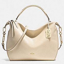 COACH MADISON XL LEATHER SMYTHE SATCHEL - LIGHT GOLD/MILK - F32330