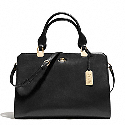 COACH MADISON LEATHER LEXINGTON CARRYALL - LIGHT GOLD/BLACK - F32331
