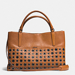 COACH GROMMETS SOFT BOROUGH BAG IN PEBBLED LEATHER - AR/TAN - F32339