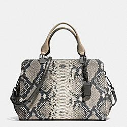 MADISON LEXINGTON CARRYALL IN DIAMOND PYTHON LEATHER - ANTIQUE NICKEL/GREY - COACH F32368