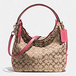 BLEECKER SULLIVAN HOBO BAG IN SIGNATURE FABRIC - LID7Y - COACH F32371