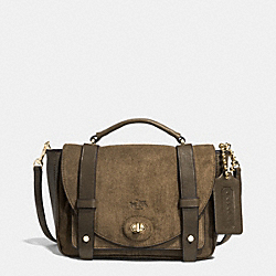 COACH BLEECKER SUEDE WITH LEATHER MINI BROOKLYN MESSENGER - GDD1Z - F32376