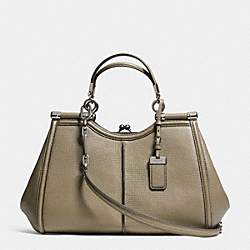 MADISON TEXTURED LEATHER PINNACLE CARRIE SATCHEL - f32377 - QBD1R
