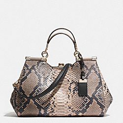 COACH MADISON CARRIE SATCHEL IN DIAMOND PYTHON LEATHER - LIGHT GOLD/ROSE PETAL - F32380
