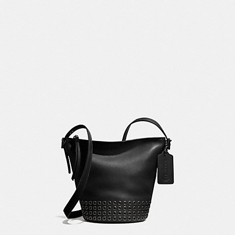 95 bleecker grommets mini duffle bag in leather coach