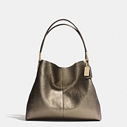 COACH MADISON METALLIC LEATHER SMALL PHOEBE SHOULDER BAG - GOLD/GOLD - F32397