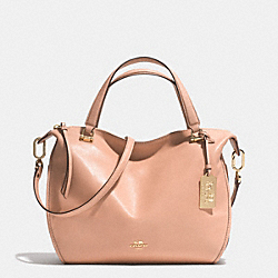 COACH MADISON SMYTHE SATCHEL IN LEATHER - LIGHT GOLD/ROSE PETAL - F32405