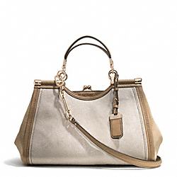 COACH MADISON STINGRAY EMBOSSED LEATHER PINNACLE CARRIE SATCHEL - GDKHA - F32422