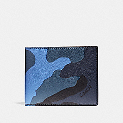COACH 3-IN-1 WALLET WITH CAMO PRINT - Dusk Multi - F32438