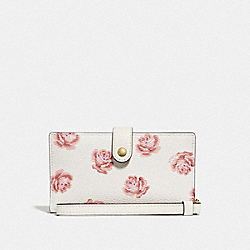 PHONE WRISTLET WITH ROSE PRINT - LI/CHALK ROSE PRINT - COACH F32450